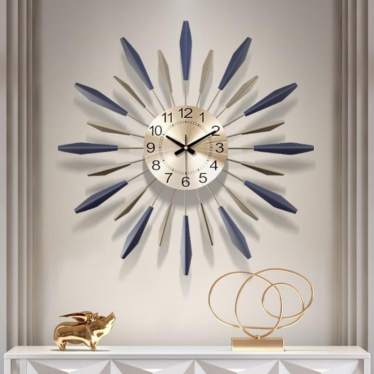 掛鐘 鐘錶掛鐘客廳創意現代簡約時鐘個性大氣家用時尚裝飾藝術北歐掛鐘