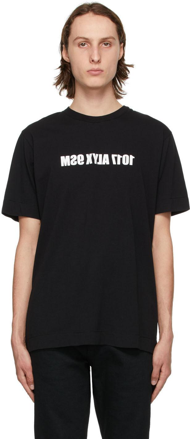 1017 ALYX 9SM 黑色 Mirrored Logo T 恤