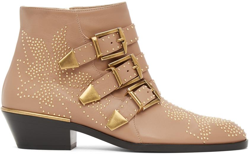 Chloé 粉色 Susanna 踝靴