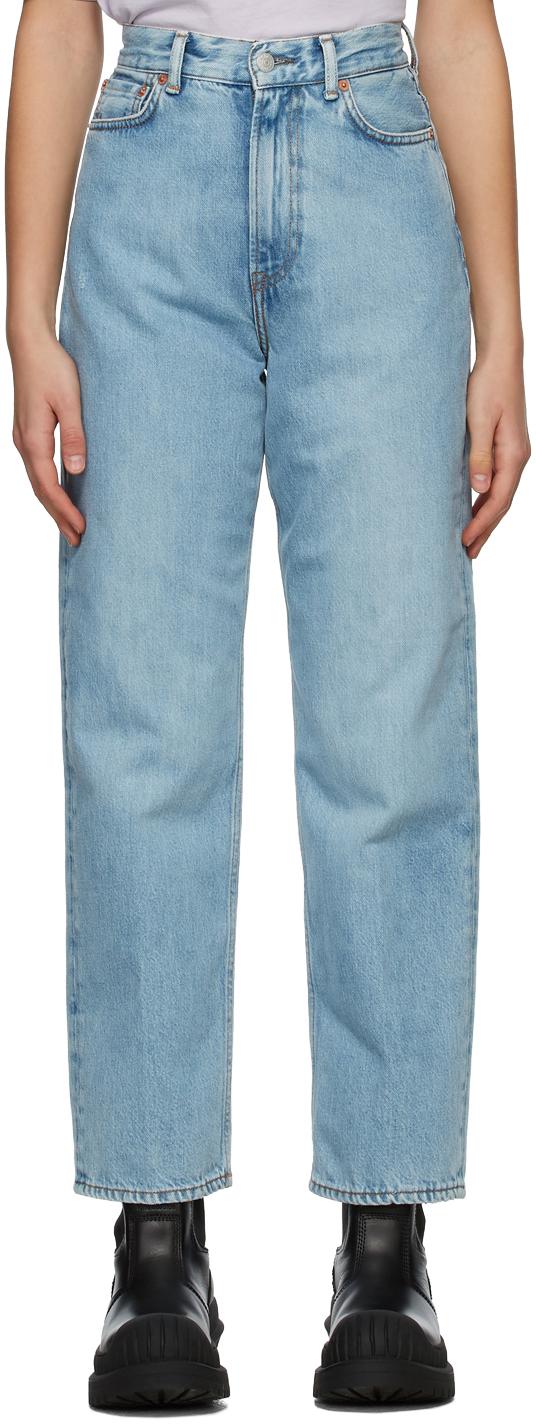 Acne Studios 蓝色宽松牛仔裤