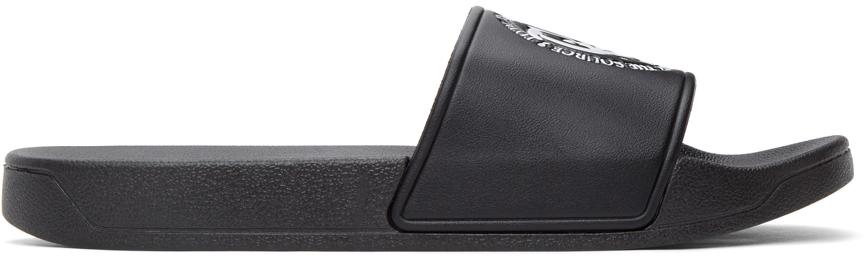 Total Luxury Spa SSENSE 独家发售黑色徽标拖鞋