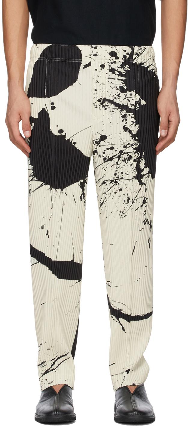Homme Plissé Issey Miyake 白色 Splash 长裤