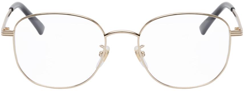 Gucci 金色圆框眼镜