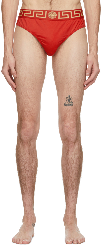 Versace Underwear 红色 Medusa 泳裤