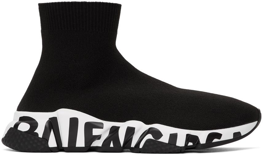 Balenciaga 黑色 Graffiti Speed 运动鞋