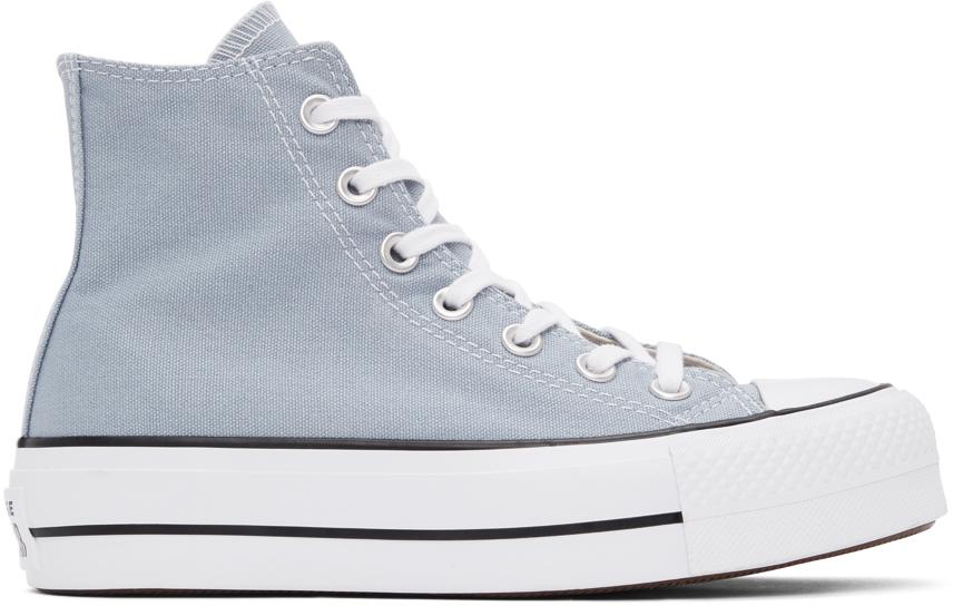 Converse 灰色 Chunk Taylor All Star Lift 高帮运动鞋