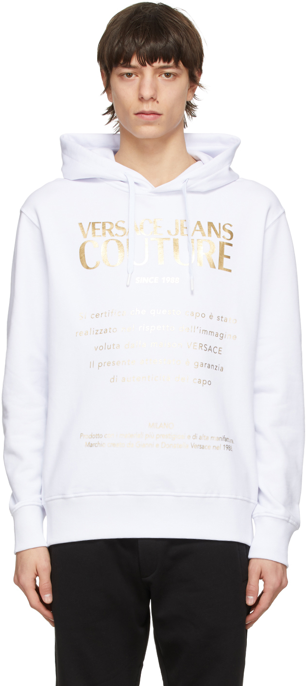 Versace Jeans Couture 白色 Warranty 连帽衫