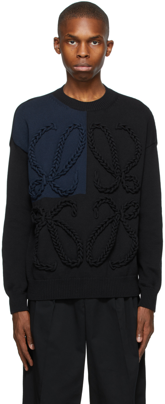 Loewe 黑色 Anagram Embroidered 针织衫