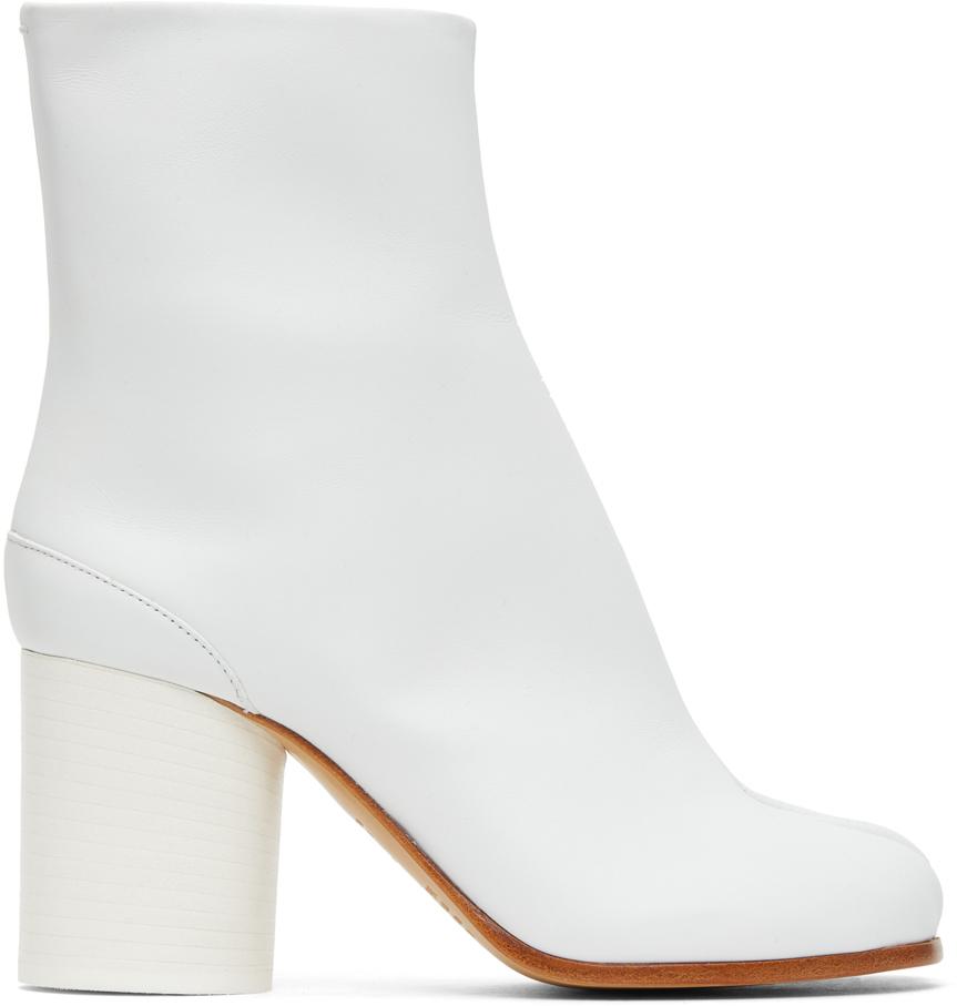 Maison Margiela 白色 Tabi 高跟踝靴