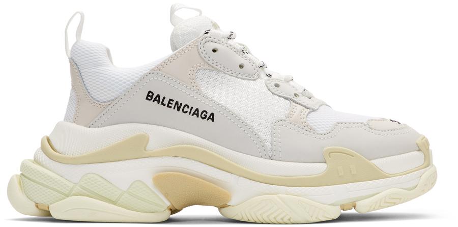 Balenciaga 白色 Triple S 运动鞋