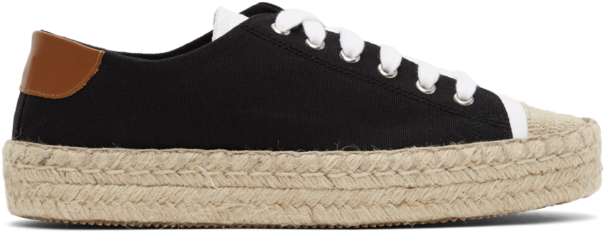 JW Anderson 黑色 Espadrille 运动鞋