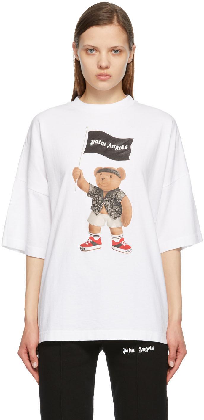 Palm Angels 白色 Pirate Bear Loose T 恤