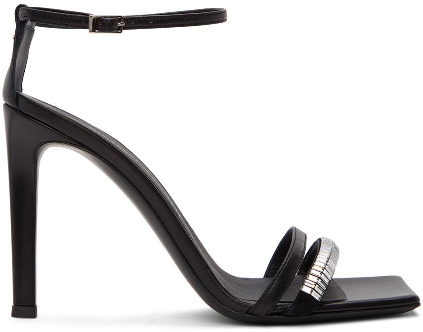 Giuseppe Zanotti 黑色 Zelda 高跟凉鞋