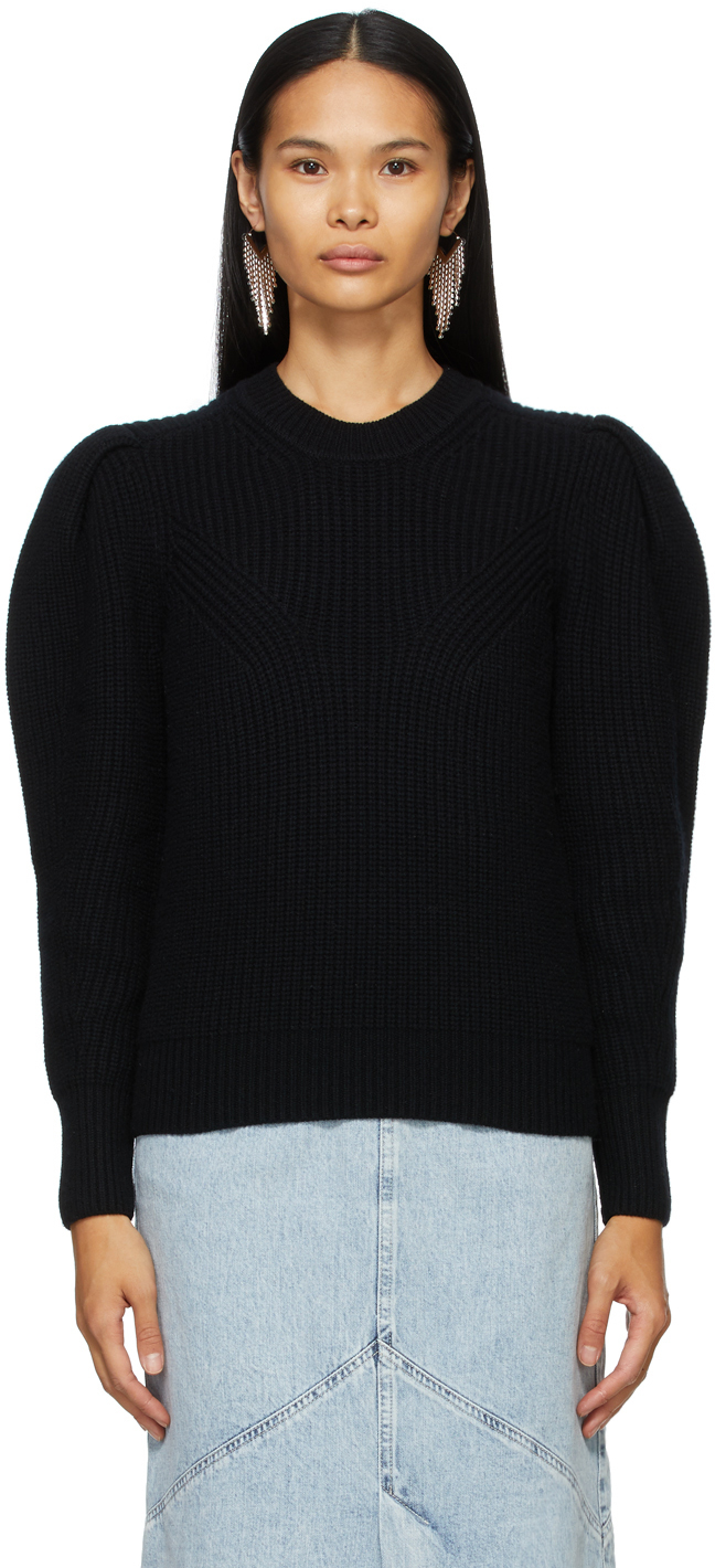 Isabel Marant 黑色 Robin 泡泡袖毛衣