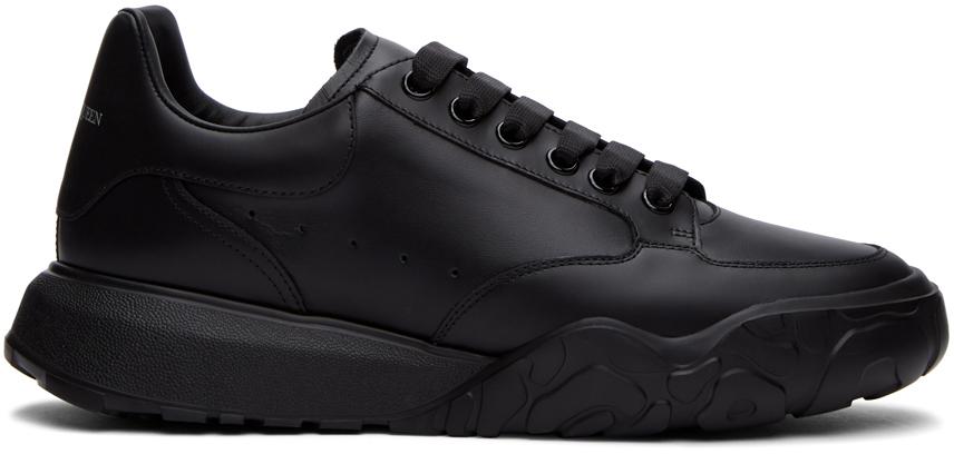 Alexander McQueen 黑色徽标运动鞋