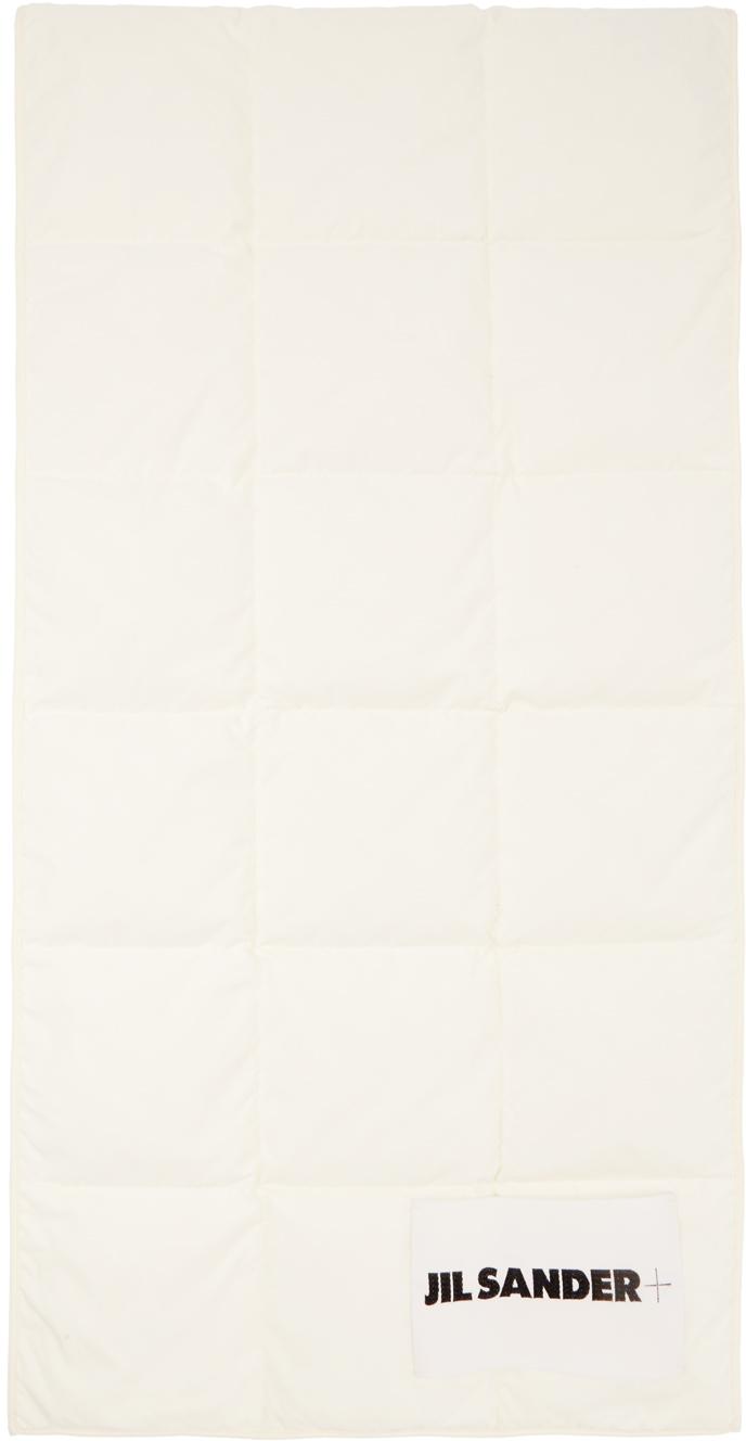Jil Sander 灰白色绗缝羽绒围巾