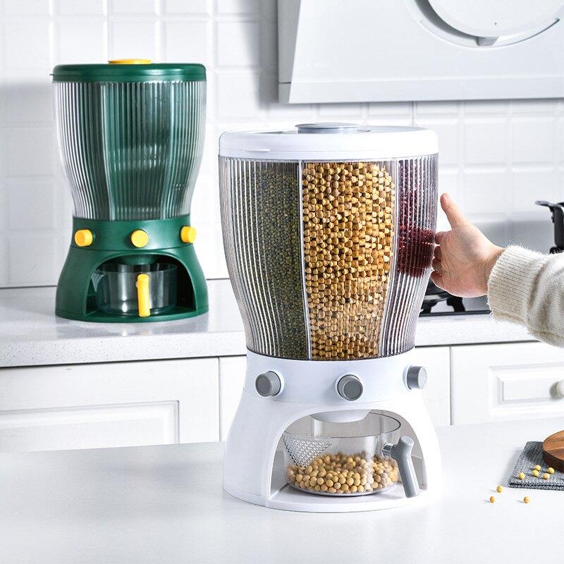 旋轉分格米桶家用防蟲防潮密封儲米箱廚房米缸五谷雜糧大米收納盒