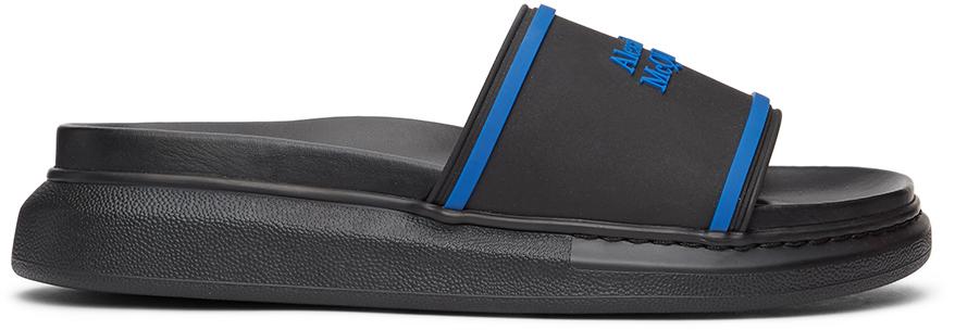 Alexander McQueen 黑色 Signature Hybrid 阔型拖鞋