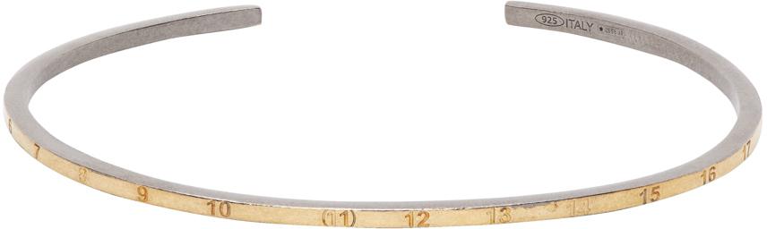 Maison Margiela SSENSE 独家发售金色 & 银色 Numbers 窄版手镯
