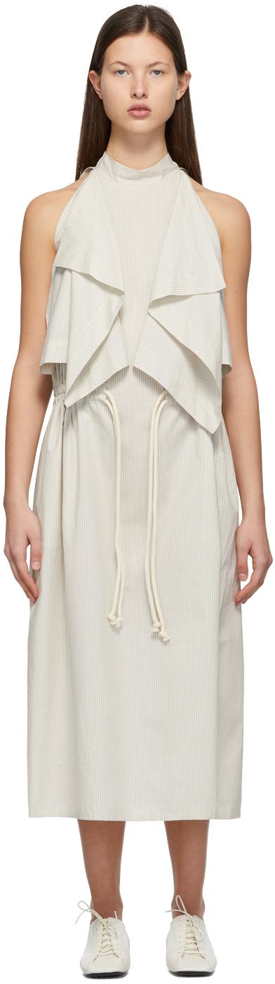 Lemaire 白色 Foulard 无袖连衣裙