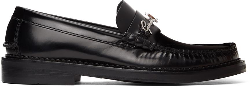 Versace 黑色 GV Signature 乐福鞋