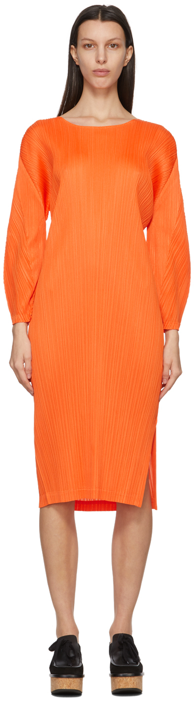 Pleats Please Issey Miyake 橙色 Monthly Colors January 连衣裙