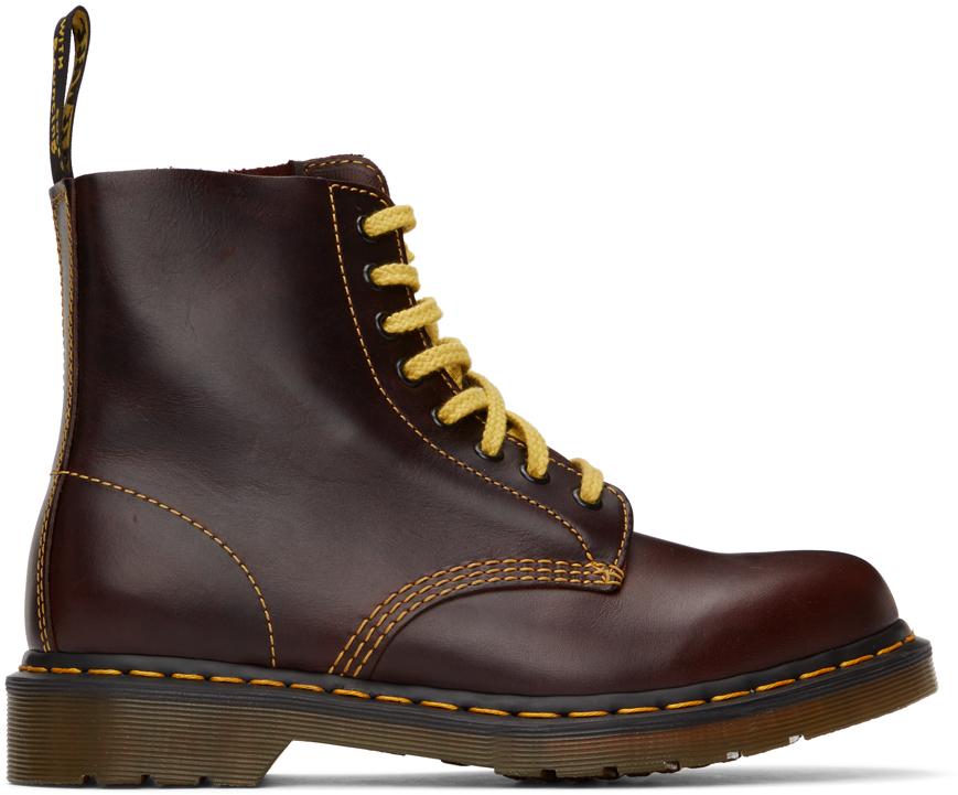 Dr. Martens 酒红色 1460 Pascal 踝靴