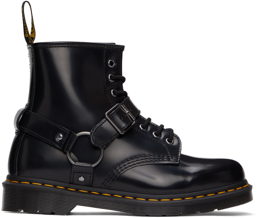Dr. Martens 黑色 1460 束带踝靴