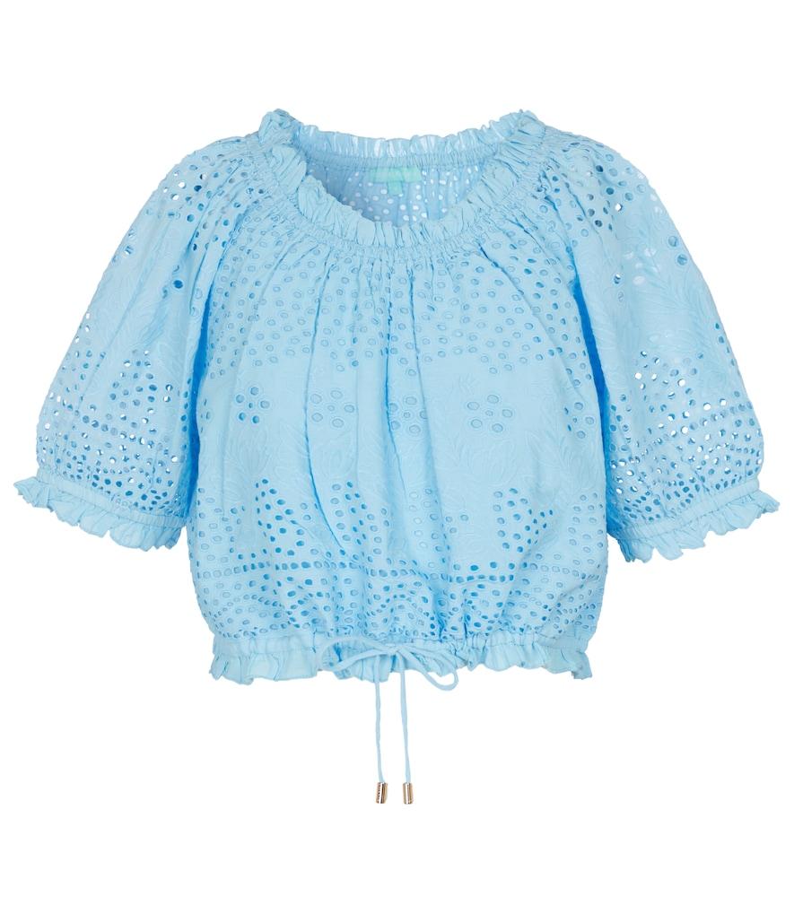 Francesca broderie anglaise cotton top
