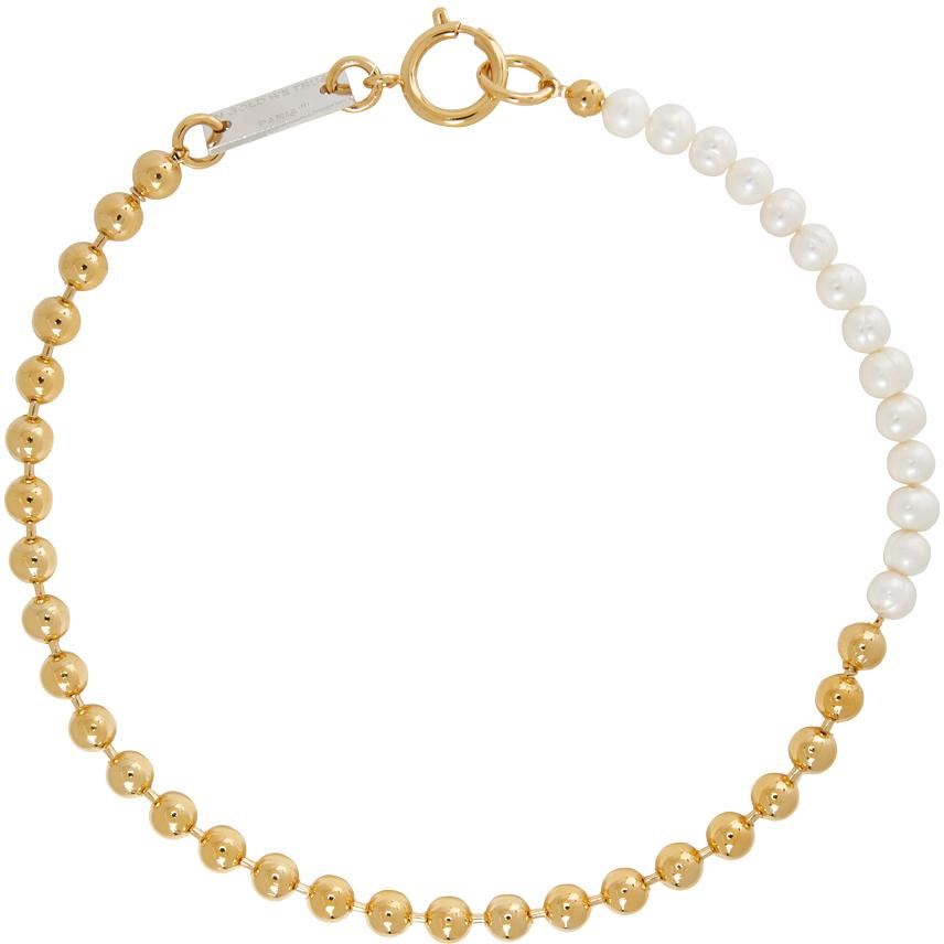 IN GOLD WE TRUST PARIS 金色珍珠颈链