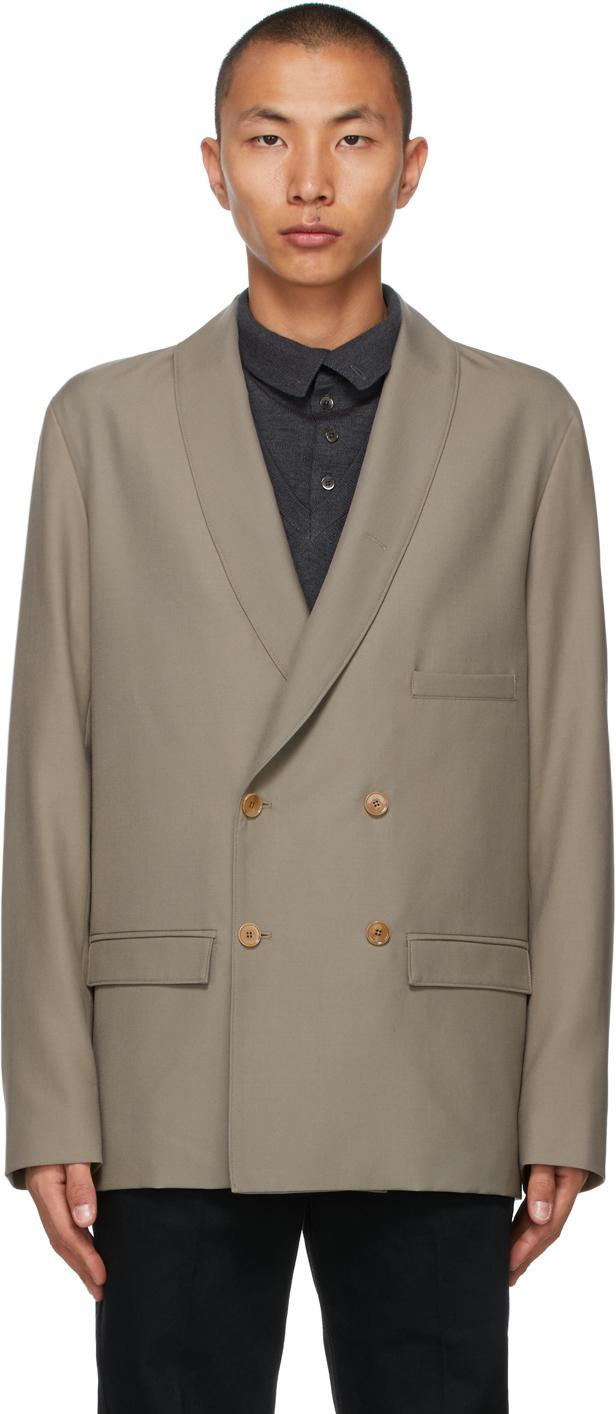 Lemaire 灰褐色 DB 束带西装外套