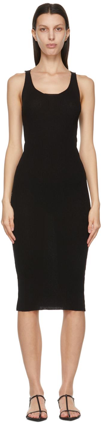 LVIR 黑色低圆领连衣裙