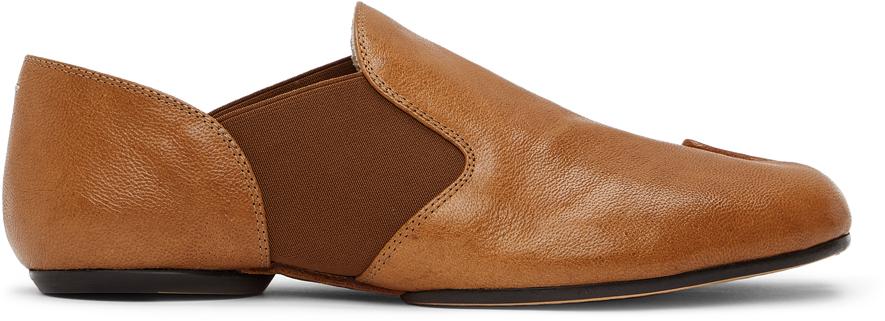 Maison Margiela 黄褐色 Tabi 乐福鞋