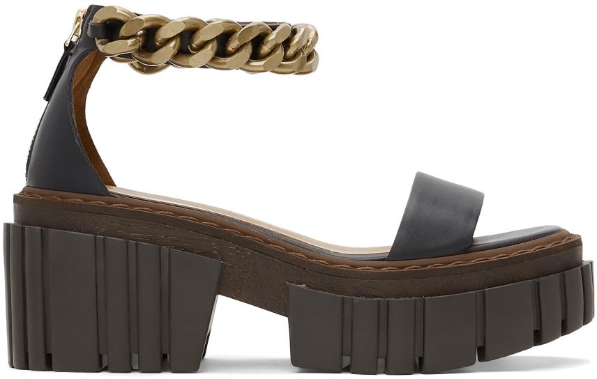 Stella McCartney 黑色 Falabella 凉鞋