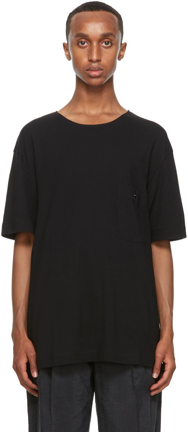 Lemaire 黑色平纹针织 T 恤