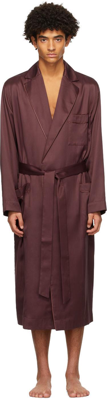 CDLP 酒红色 Home 浴袍