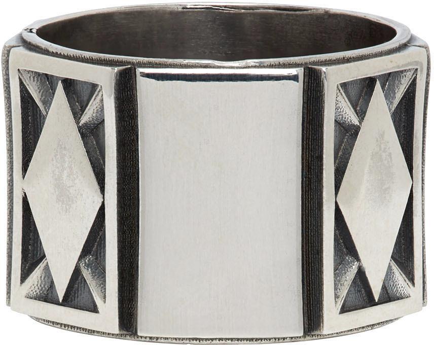 Emanuele Bicocchi 银色 Rhombus 戒指
