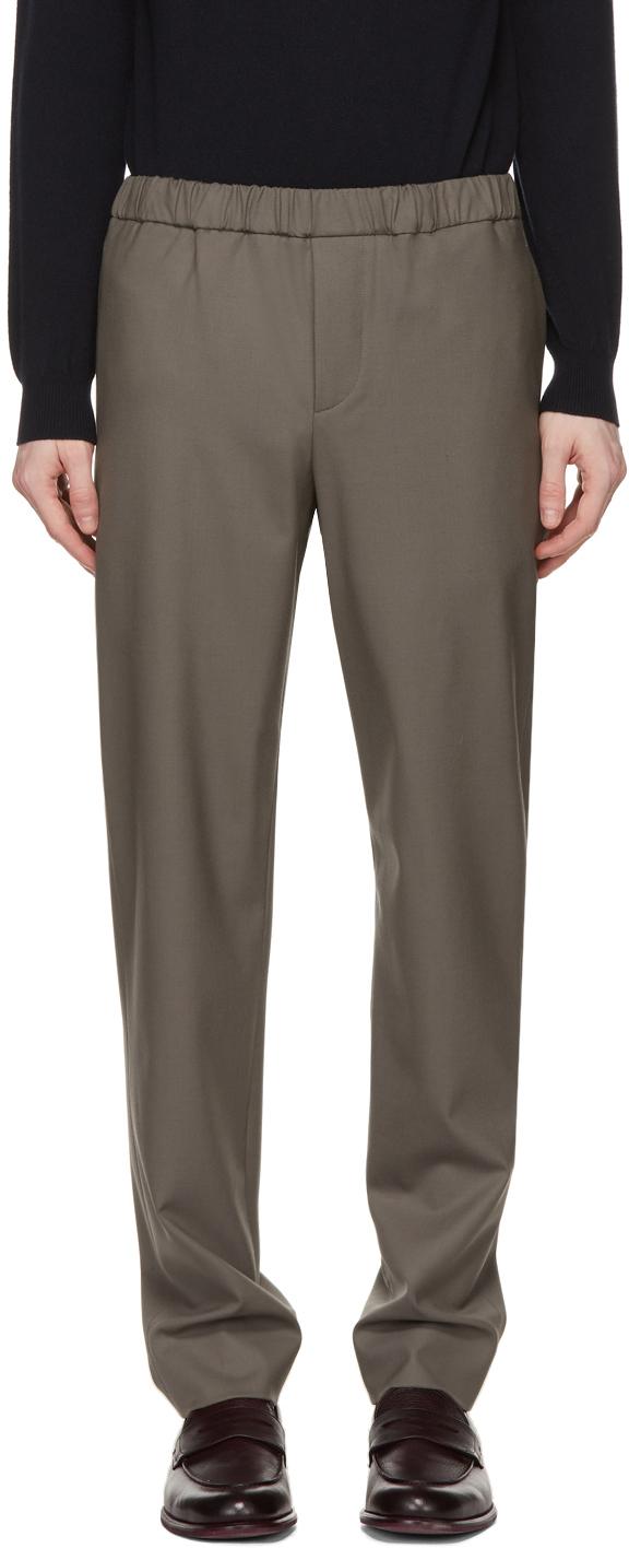 Loro Piana 灰色 Leisure Flat 长裤