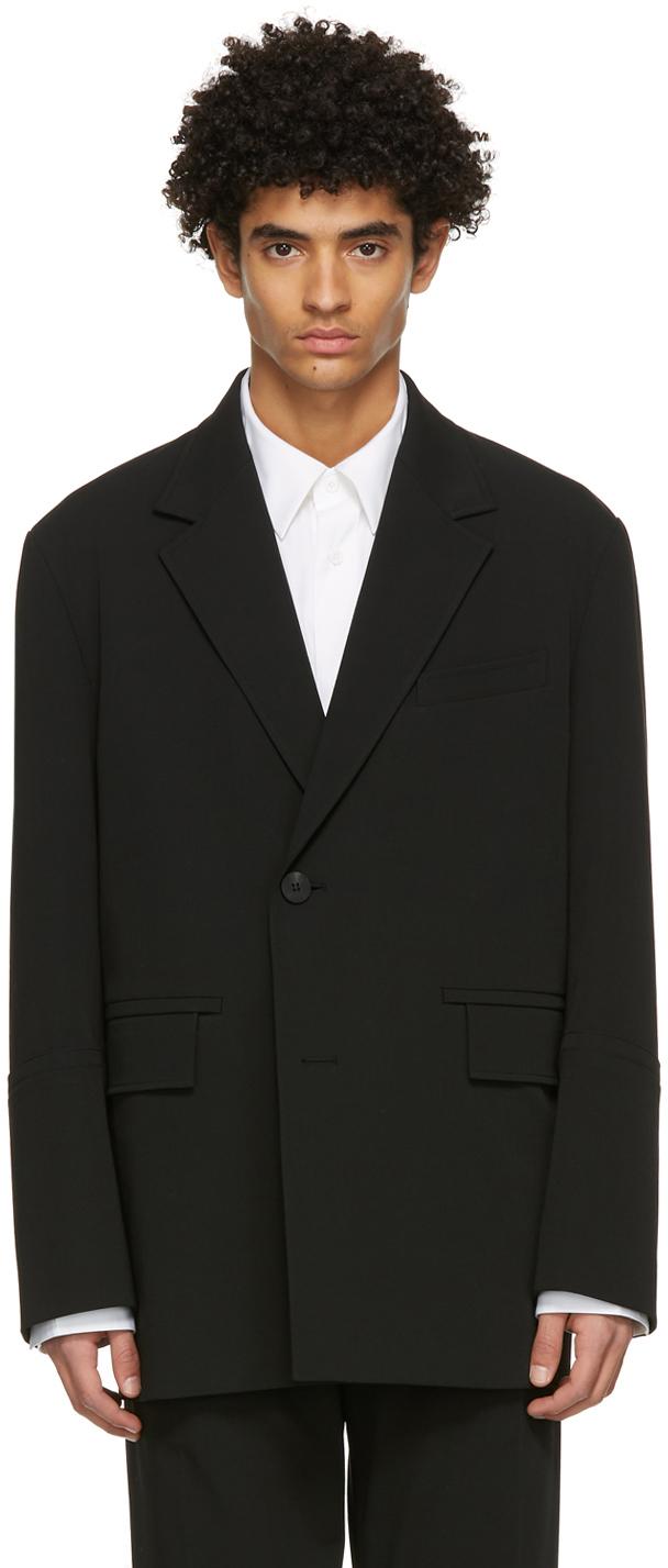 Wooyoungmi 黑色 2B 西装外套