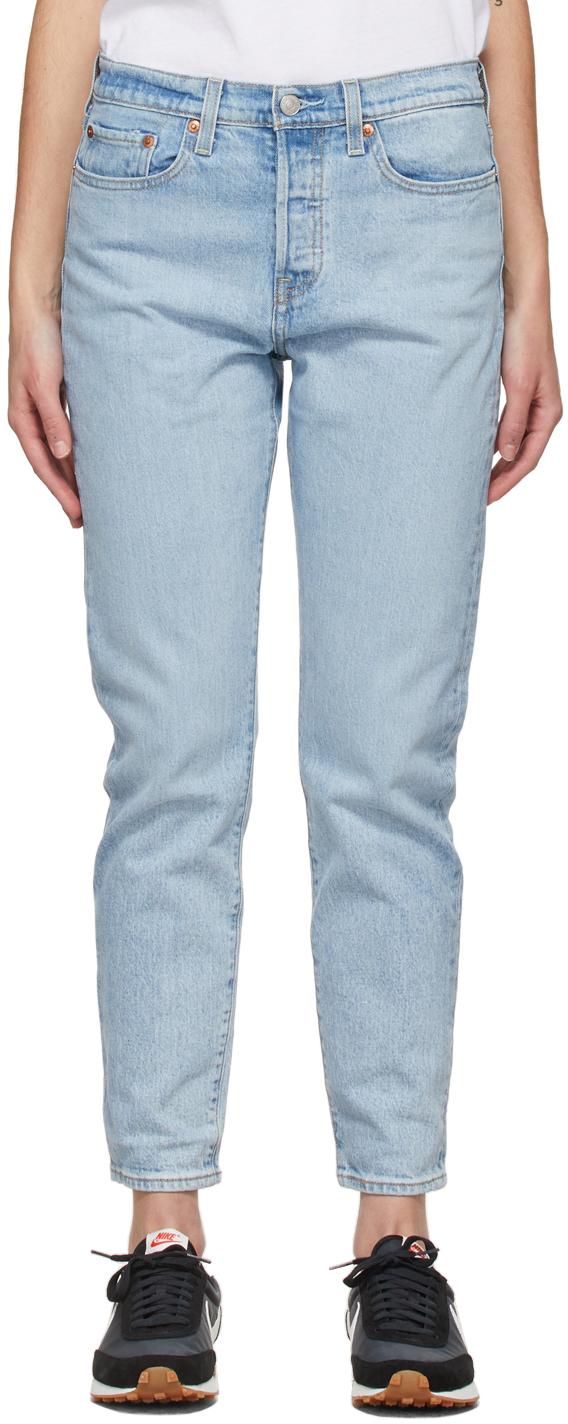 Levi's 蓝色 Wedgie Icon 牛仔裤