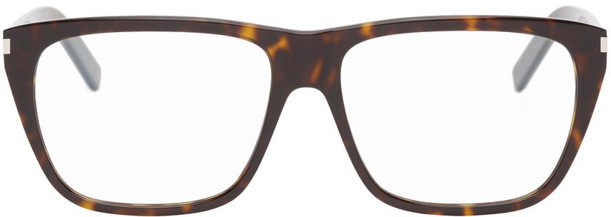 Saint Laurent 玳瑁色 SL 434 Slim 眼镜