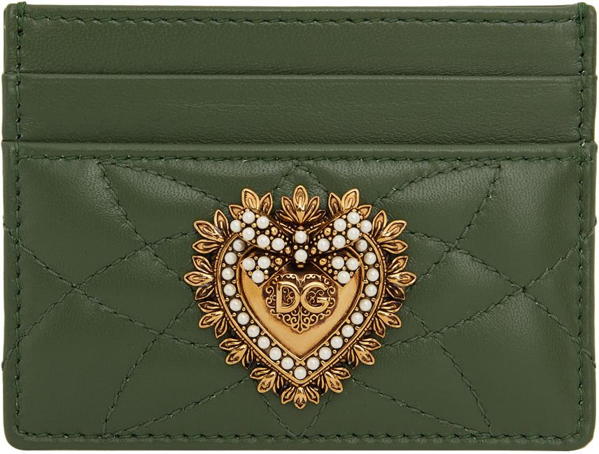 Dolce & Gabbana 绿色 Devotion 卡包