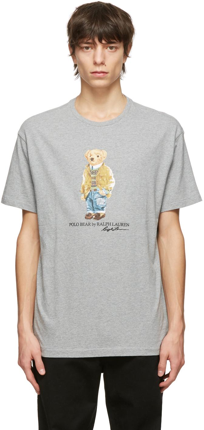 Polo Ralph Lauren 灰色 Polo Bear T 恤