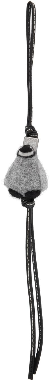 Loewe 灰色 Penguin 钥匙扣