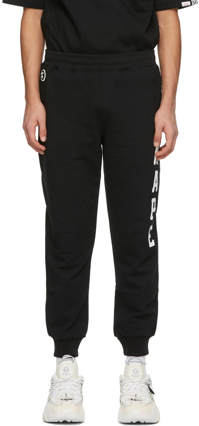 AAPE by A Bathing Ape 黑色徽标运动裤