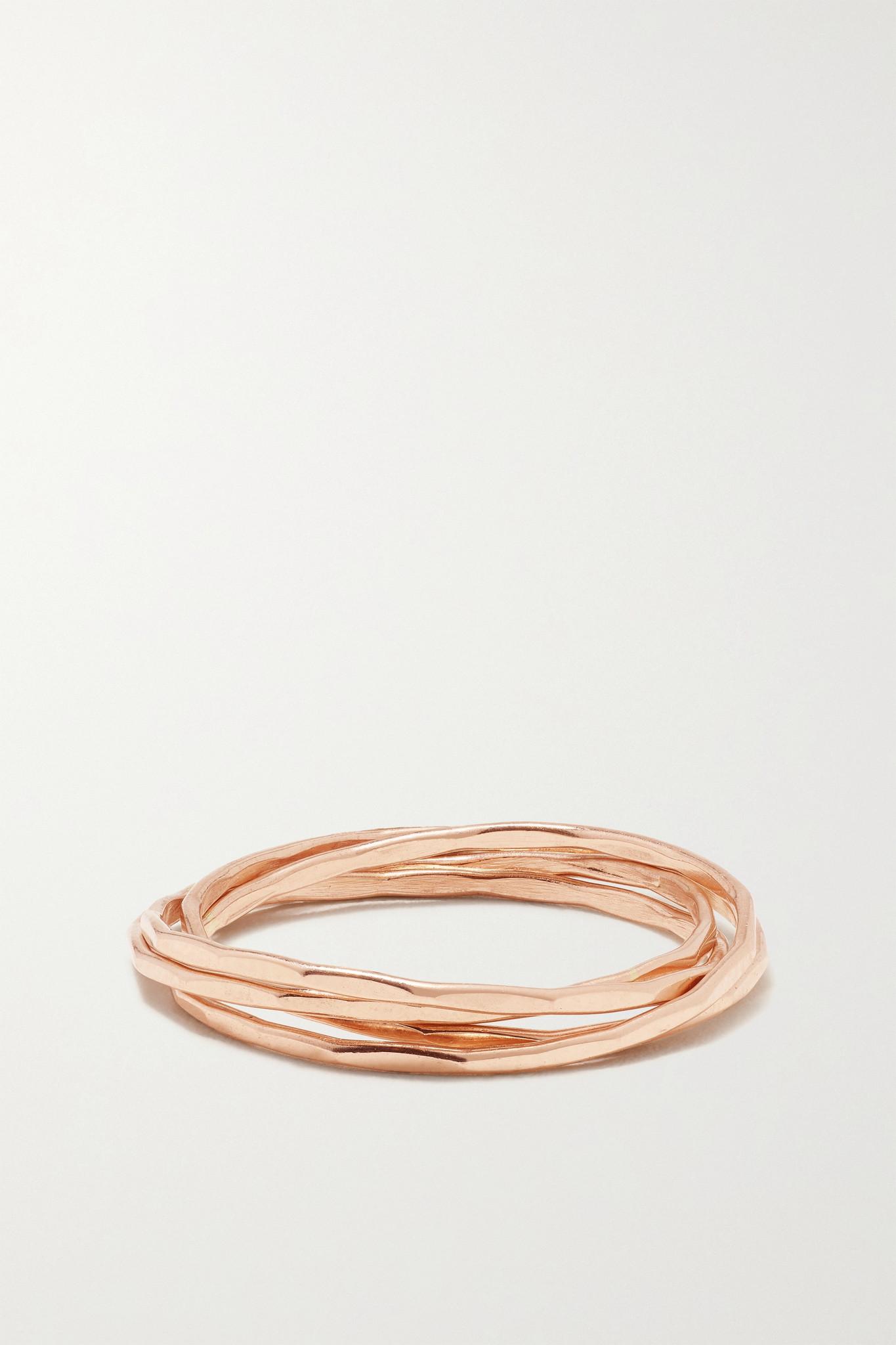 MELISSA JOY MANNING - 14-karat Recycled Rose Gold Interlocking Ring - 6