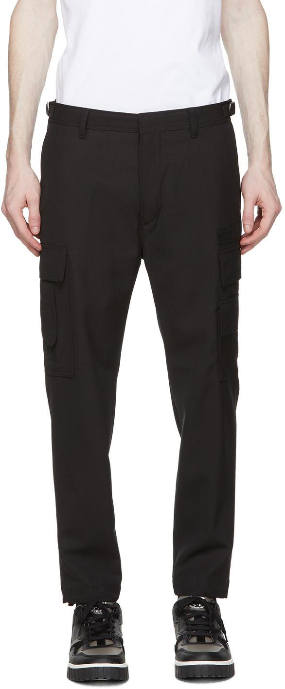 Diesel 黑色 Pleat-Front 工装裤