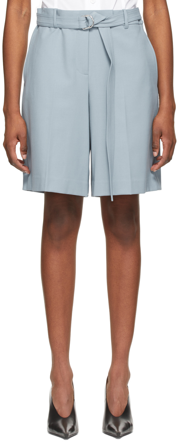 Helmut Lang 蓝色 Suit 短裤