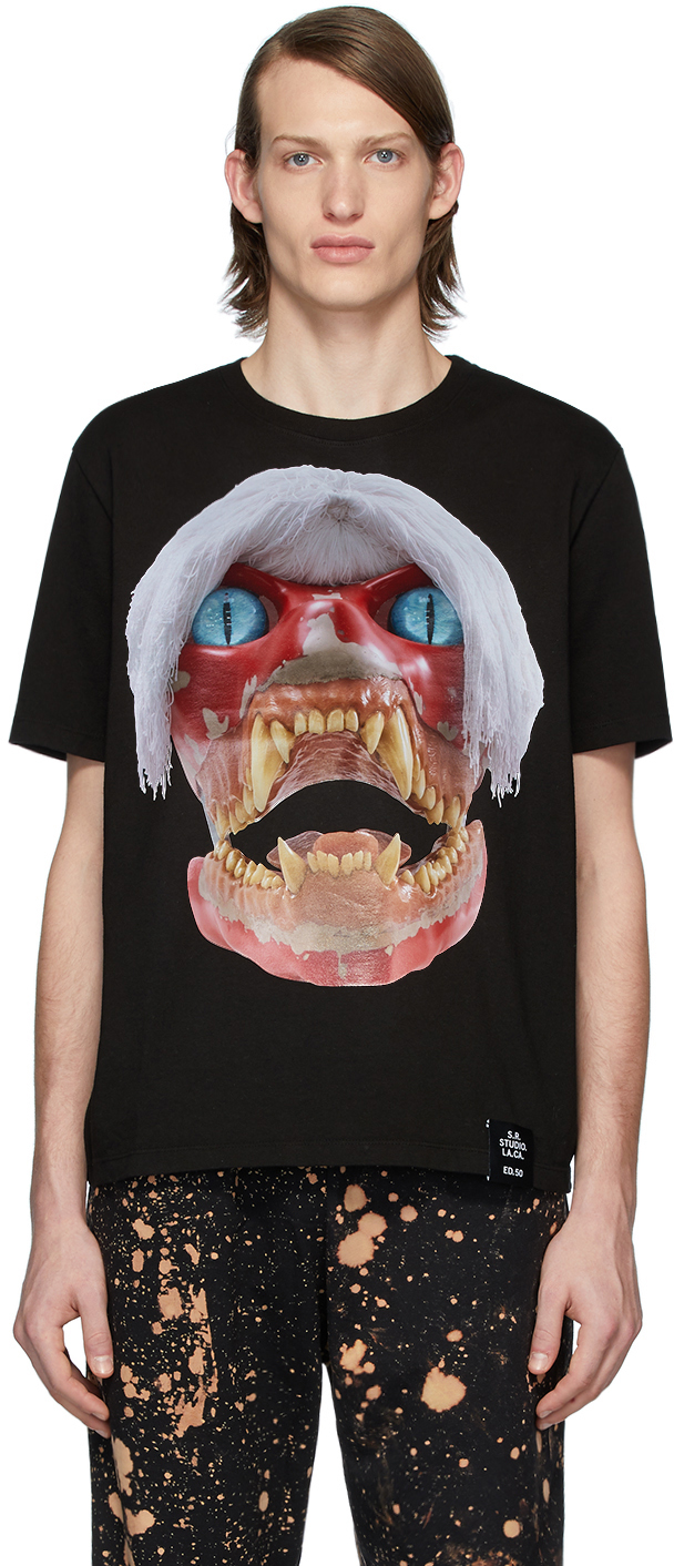 S.R. STUDIO. LA. CA. 黑色 ED. 50 White Haired Red Skull T 恤