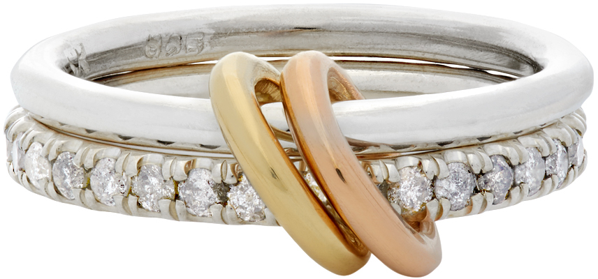 Spinelli Kilcollin 银色 & 金色 Marigold Two-Link 戒指